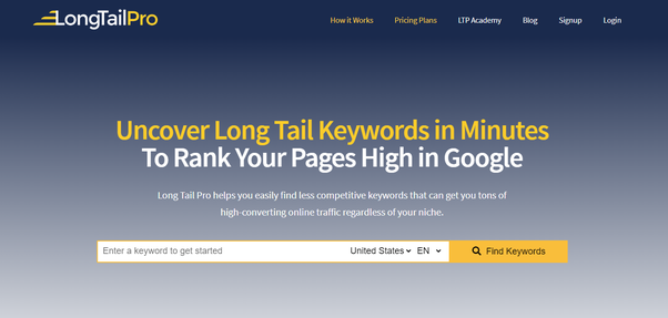 Long Tail Pro Keyword Research Tools
