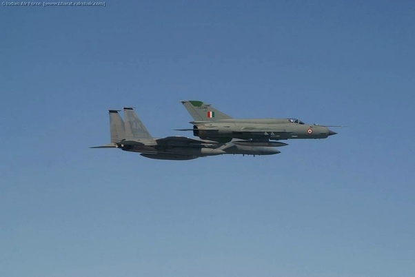 IAF Mig-21 with USAF F-15C during Cope India 2004