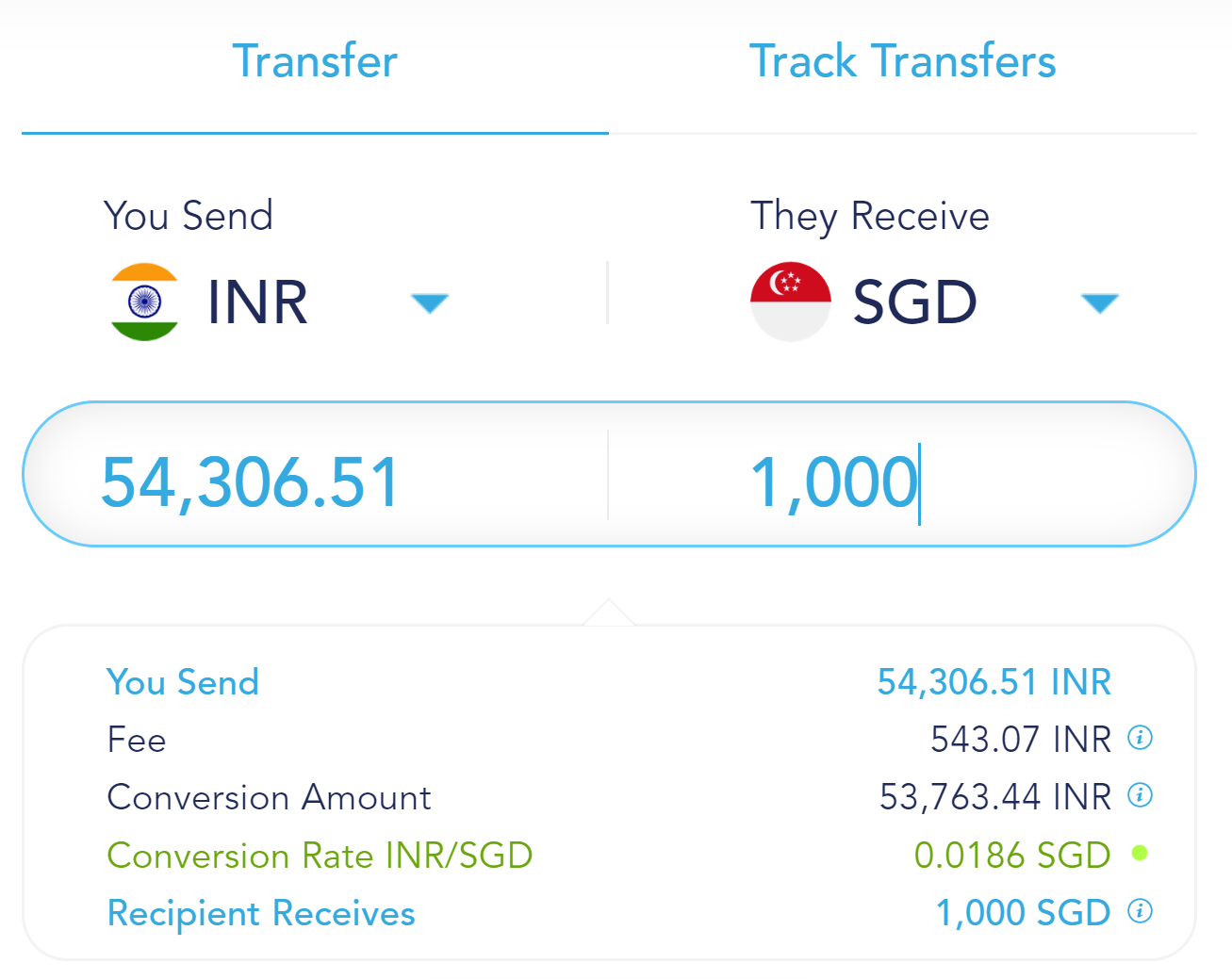 cheapest way to transfer money from india to singapore