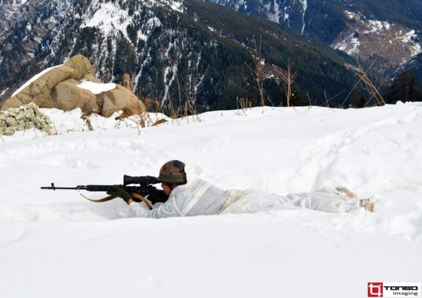 Indian Army Sniper with SVD Dragunov Sniper Rifle with EK Thermal Sight