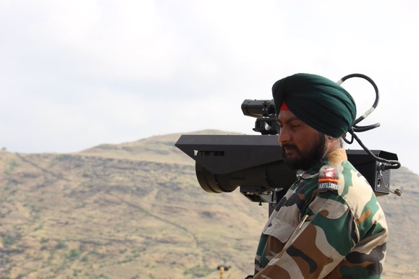 Indian Soldier deploying a T-Rex Advanced Surveillance Device at LoC Border Outpost