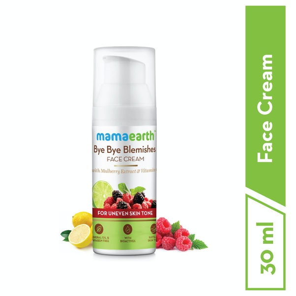 Best natural products for blemishes in India, Bye Bye Blemishes Face Cream by Mamaearth