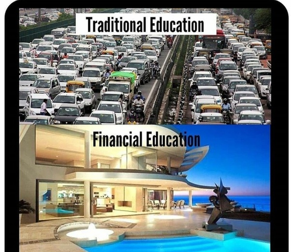 Financial Education is the Most important Education which is not Taught in any Primary or Secondary Institution. Monday Motivation Pictures
