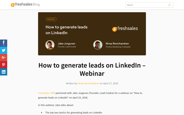 How to Generate Leads hacks