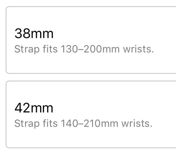 Apple Watch Series 3 GPS 42mm vs 38mm difference